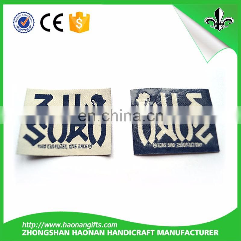Cheap custom woven labels/ garments labels made in China