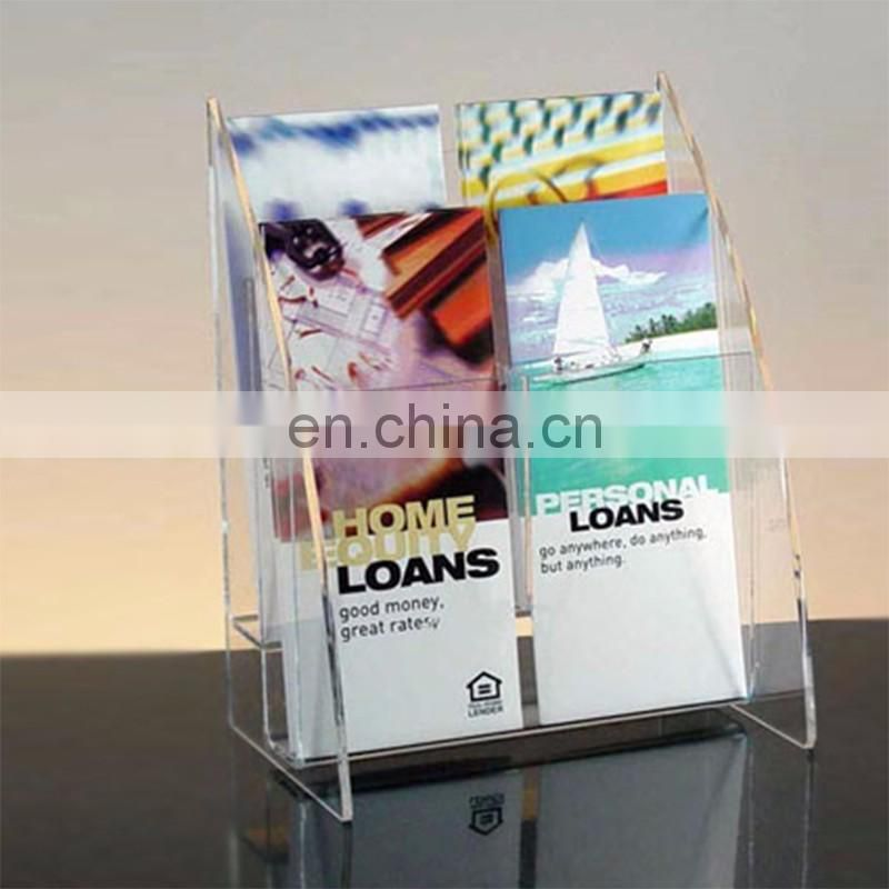 Black rotating PMMA document display stand plexiglass document display rack acrylic document holder