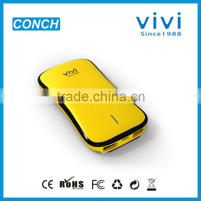 Conch 5000mah battery power bank for digital camera with 2 usb port for nokia, smartphone, mp3, PDA