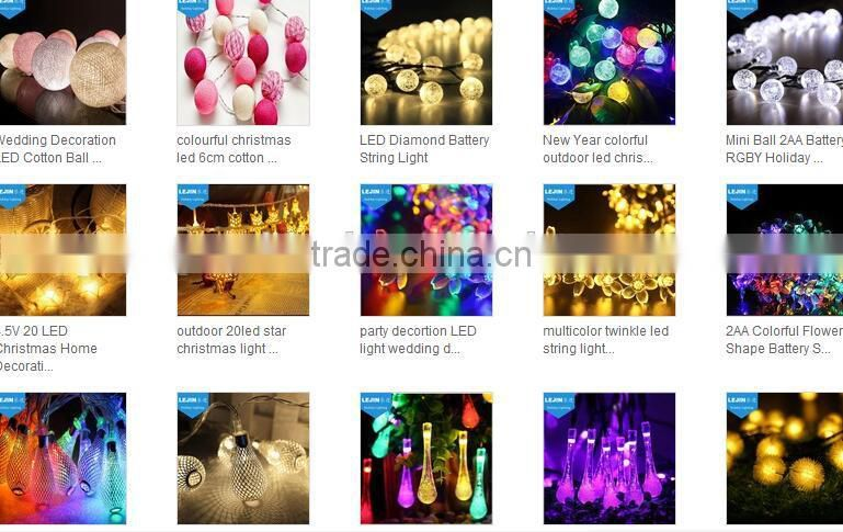 Multicolor Christmas Solar LED String Lights 30LEDs Dragonfly Lamps Garden Outdoor Garland Fairy Lights