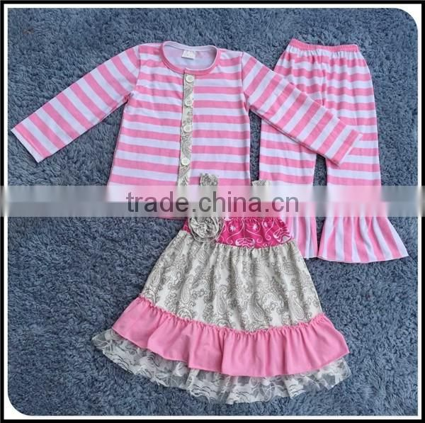 2016 spring wholesale children's boutique clothing for little girls Easter rabbit suits