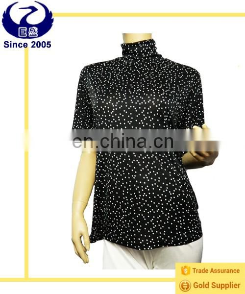women black wave point blouse