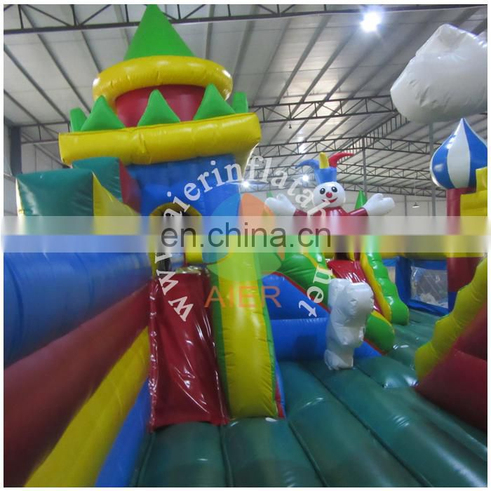 Funny good quality inflatable funland equipment , outdoor inflatable fun city for adults and children