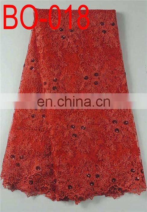embroidered organza fabric for garments(BO-017)