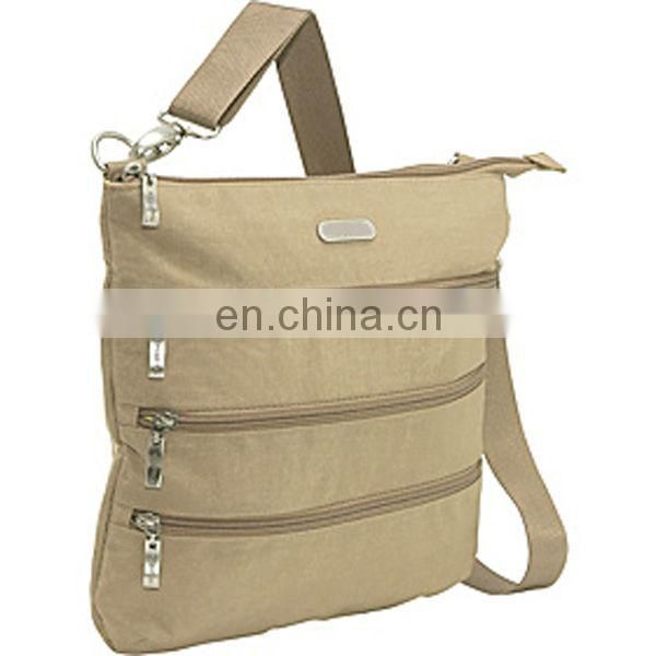 Rice white Big triple zipper shoulder bag