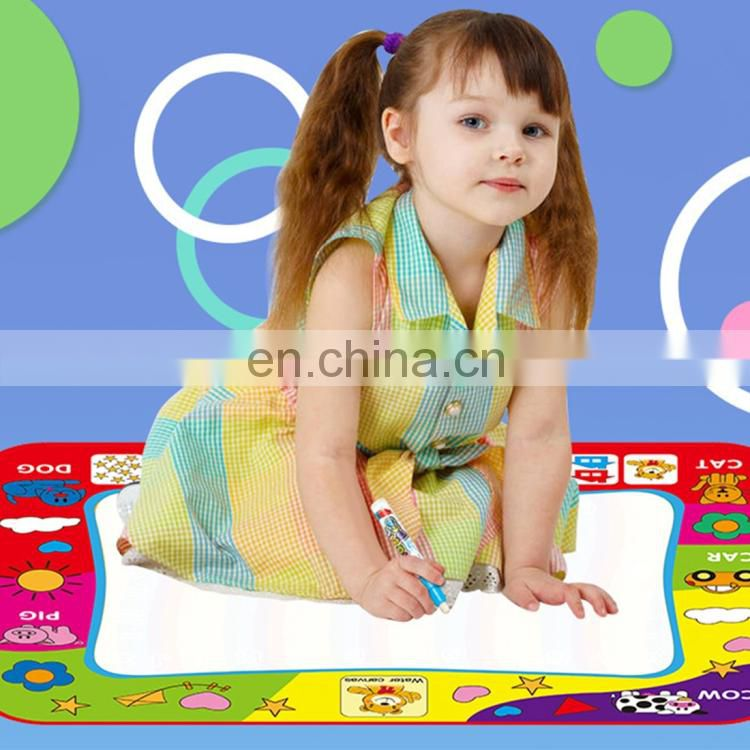 Children Rainbow Color Magic Doodle Water Drawing Mat with 2 Pen, Size: 80cm x 60cm