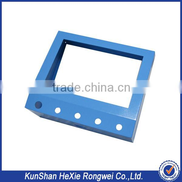 custom daily need stamping anodized color aluminum sheet metal bending parts for lcd led tv spare parts