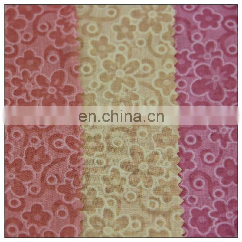 polyester cotton blend burnout fabric fashionable in garment
