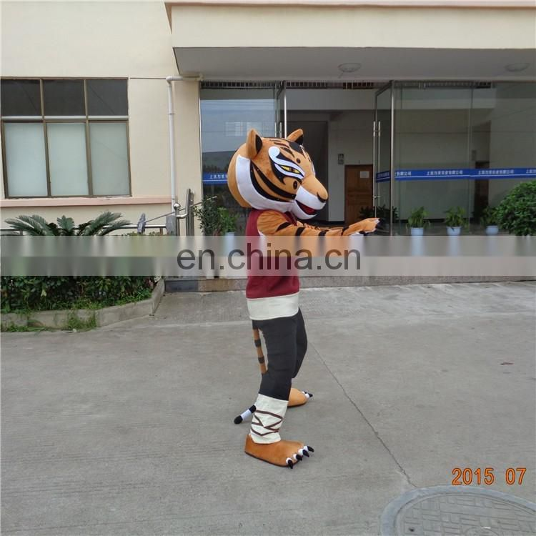 China factory high quality cartoon kungfu tiger mascot costume
