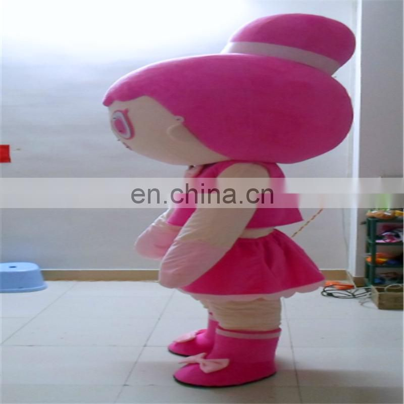 Realiable factory customize cartoon mascot wearing clothing costume