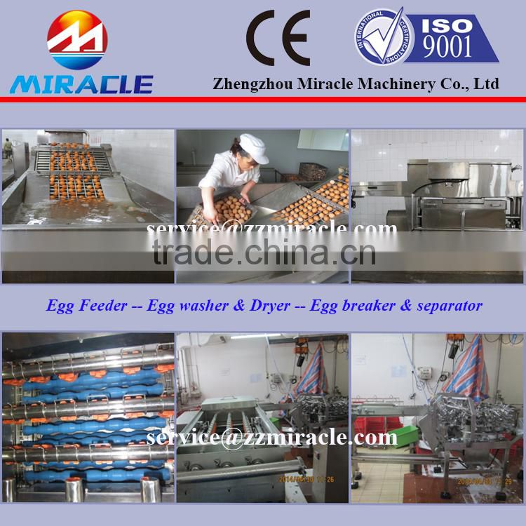Gold supplier of rotating type egg process line/egg breaking/liquid egg white separating/egg yolk breaker separator machines