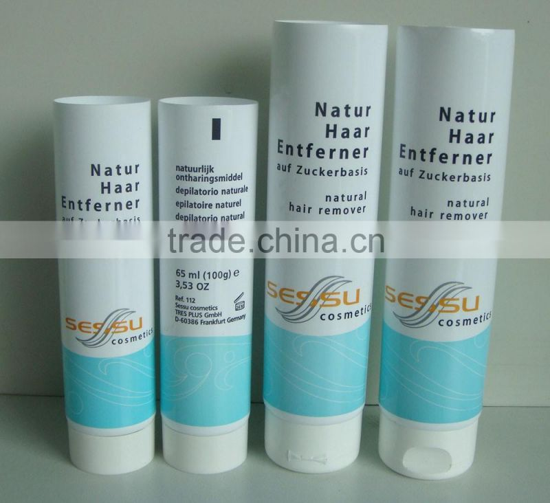 plastic packaging tube for hair extensions Image