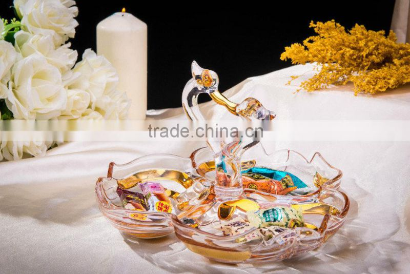 New Products In Market Glass cup/ hot sales design Hand press round clear glass salad bowl
