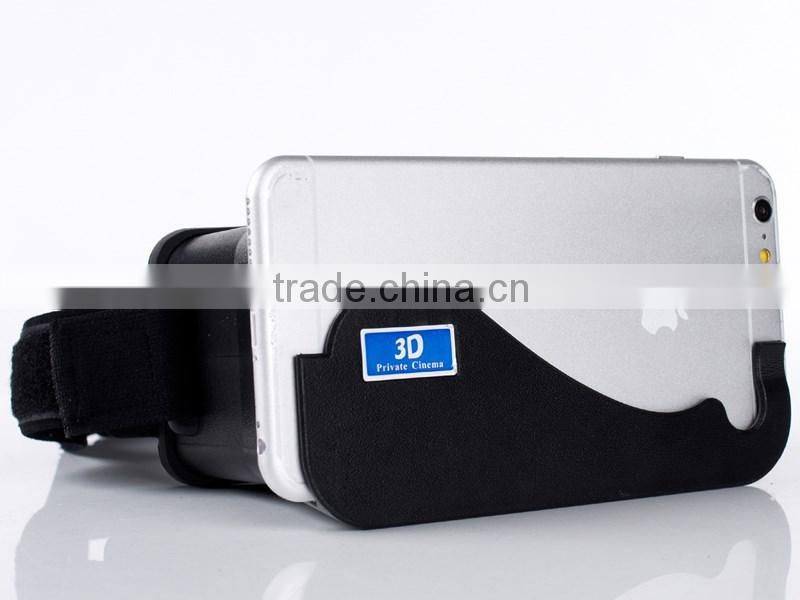 Cardboard Head Mount Plastic Virtual Reality 3D Video Glasses for Android iOS 4.7-5.7inch SmartPhone
