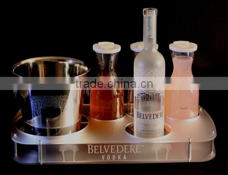 Big professional factory custom made acrylic wine glass holder tray