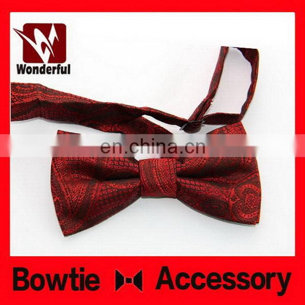 Cheap new coming elastic red black checked bow tie
