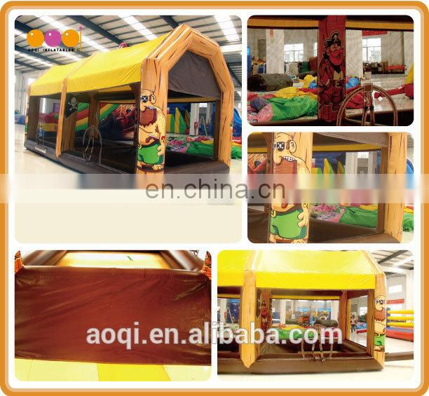 AOQI commercial use inflatable interactive sports game for sale