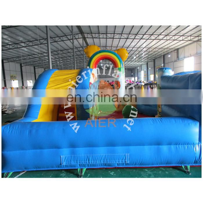 Inflatable play park children playland with ball pool