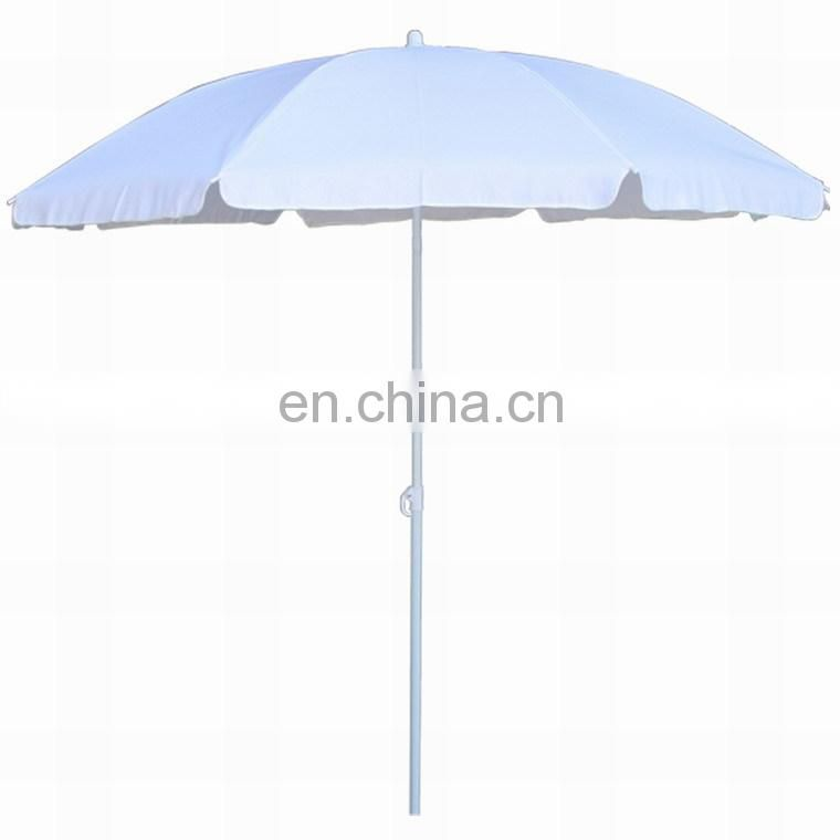high quality advertising stripe fabric beach umbrella