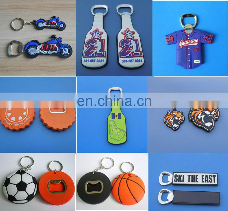 custom logo metal bottle opener in credit card shape