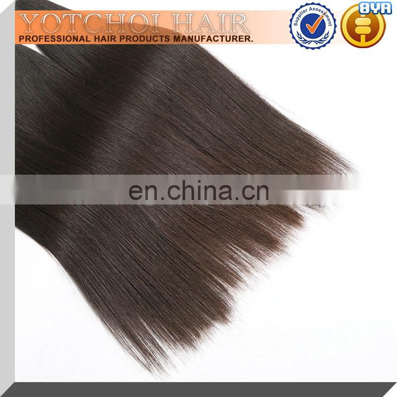 High Quality silky straight Natural Colour 100% Unprocessed Virgin Peruvian Hair