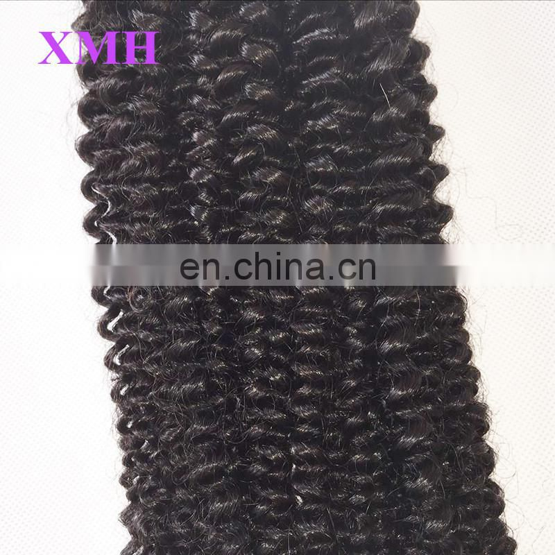 100%Human hair weaves for black women kinky curly hair weave cheap virgin hair bundles