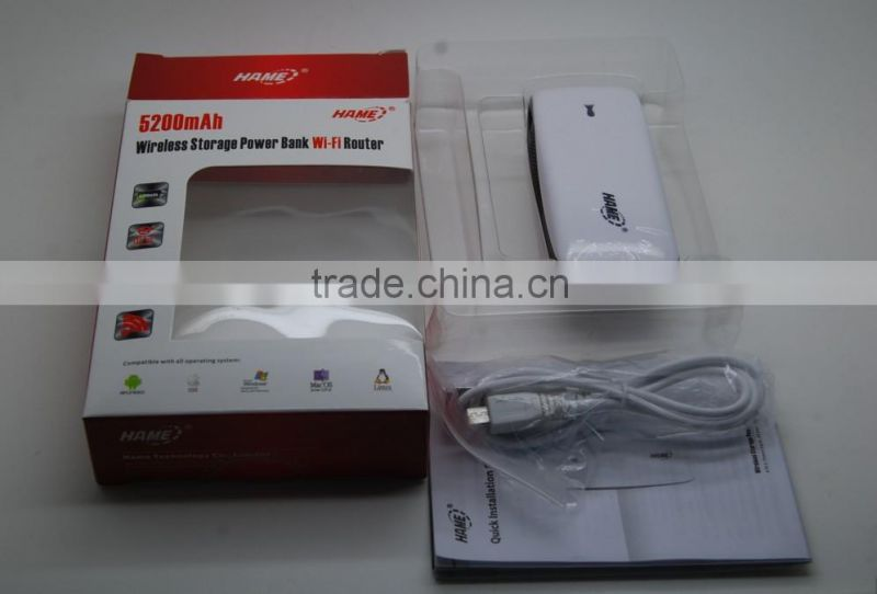 wireless router with battery 5200mAh power bank