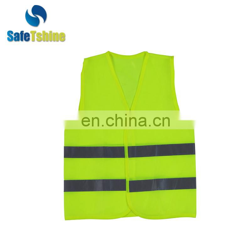 High quality practical fluorescent stripes waterproof vest