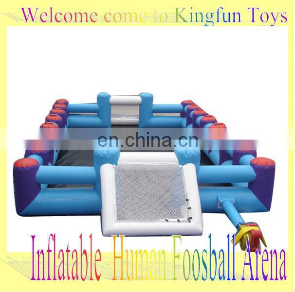 inflatable water soccer arena/soap football field