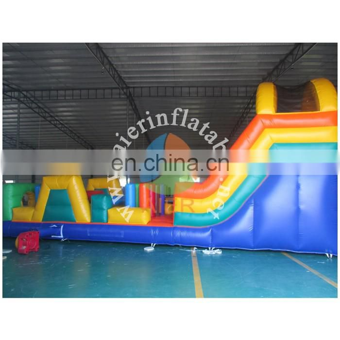 2016 Aier guangzhou nice inflatable obstacle course for adult and kids