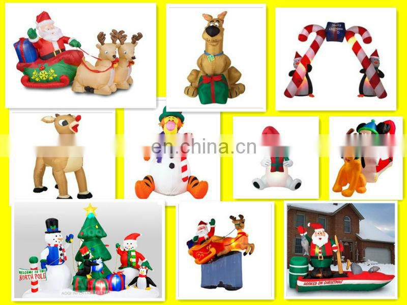 Customized Logo Promotional Inflatable Christmas Santa