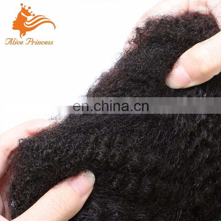 Afro Kinky Human Hair Unprocessed Malaysian Human Hair Weaving 3 Bundles Machine Double Weft Afro Kinky Curly Hair Product