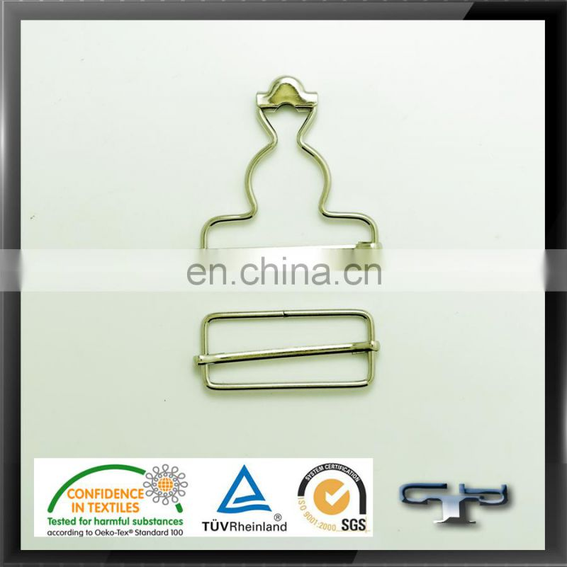 Gold plated metal alloy buckles and clip