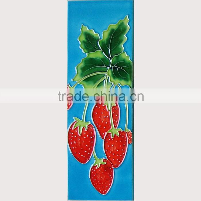 Hand painted wall hanging art ceramic tile