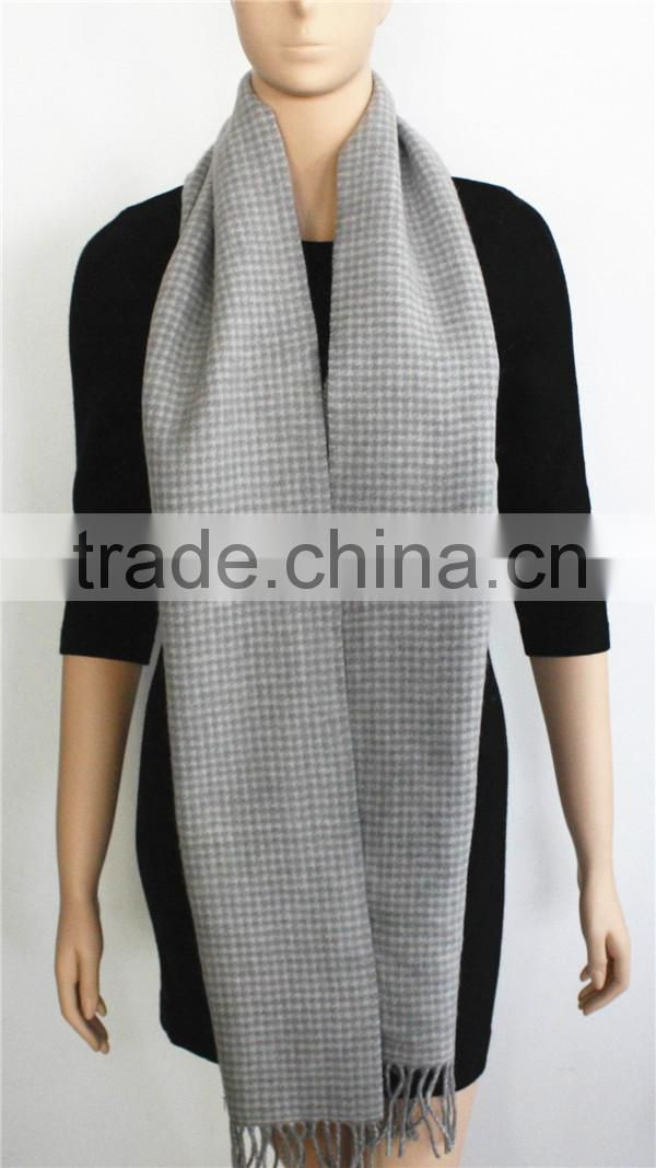 Light Grey Double Sided Wool Scarf