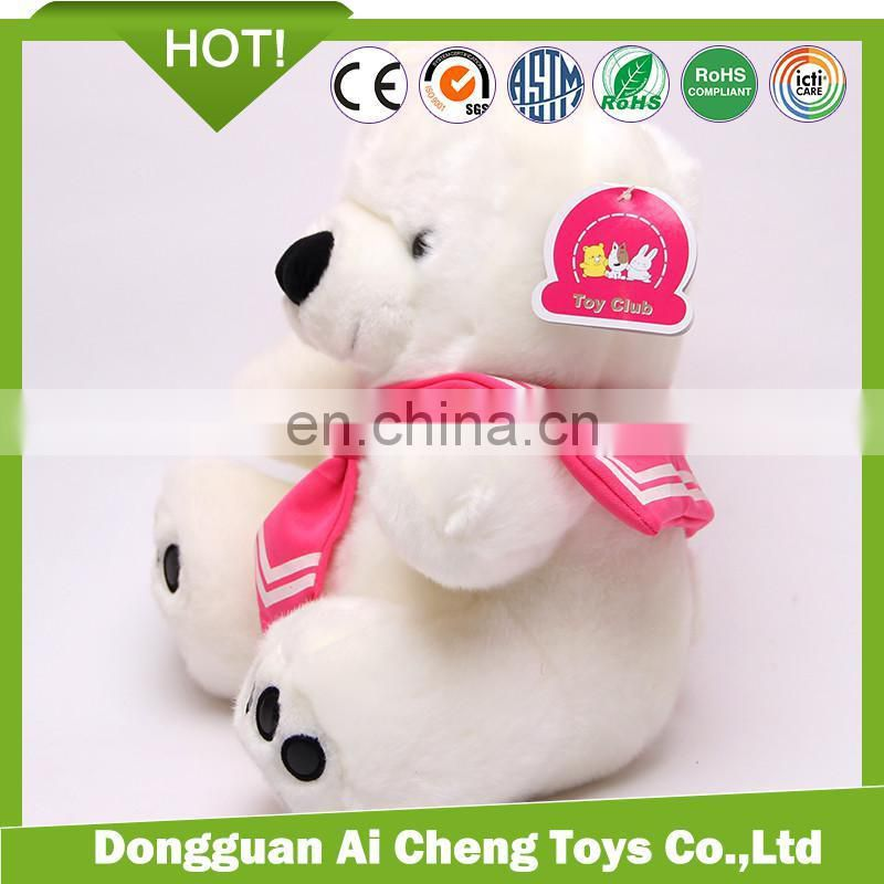 promotion Custom lovely 20cm stuffed plush polar bear with t-shirt print logo
