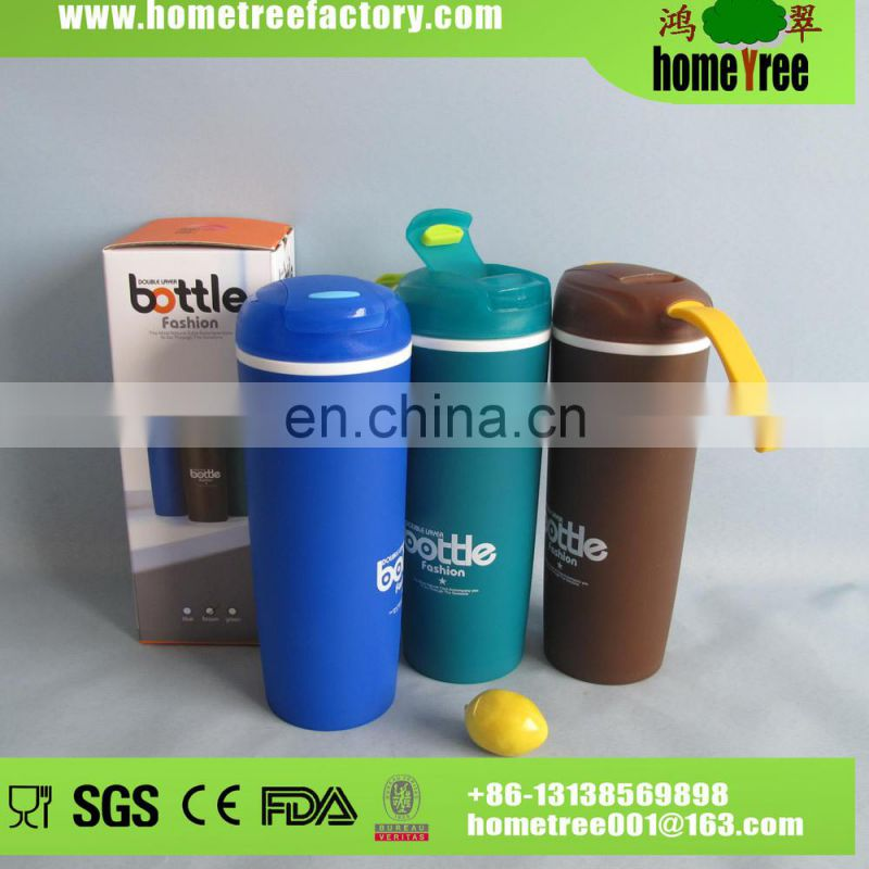 400ML Baby Heatproof Link Lid Plastic Sport shaker Gym Tea Drinking Bottle
