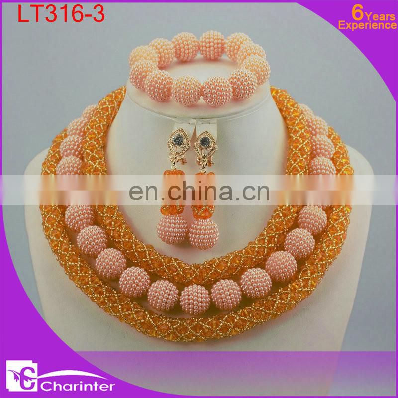 african beads jewelry set nigerian coral beads crystal beads jewelry women jewelry LT316-3