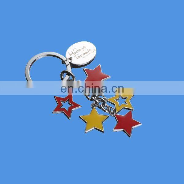 metal personalised keyring with map