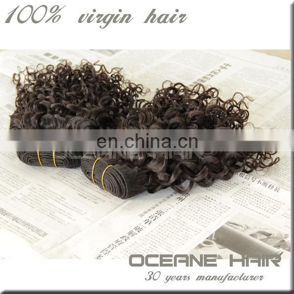 100% unprossed virgin huaman hair free shipping sample support kinky curly hair brazilian