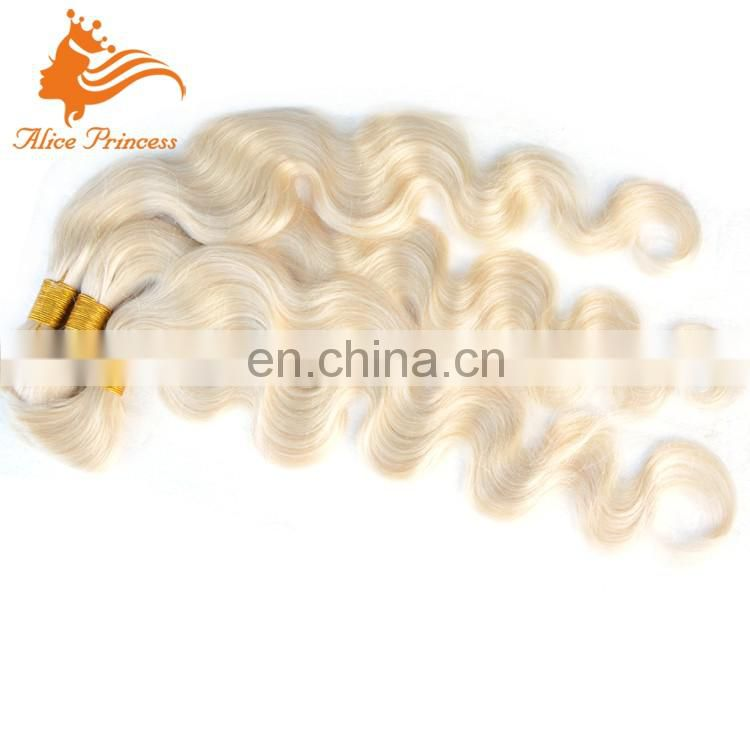 Blonde Russian Hair Bulk Body Wave Remy Braiding Bulk Hair Virign Human Hair Vendors