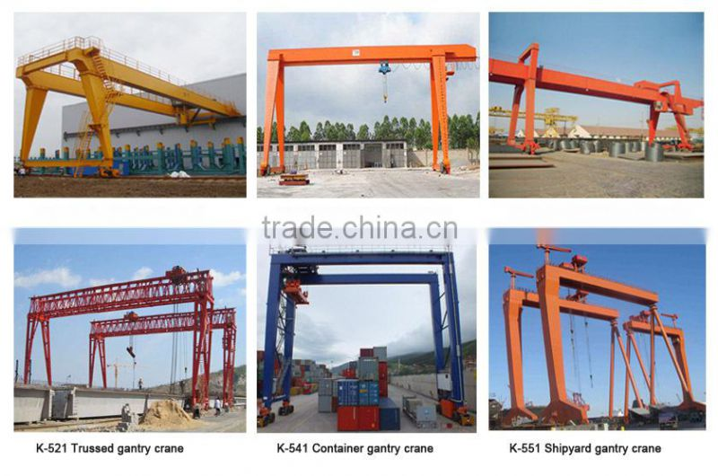 High-Quality&Good Service Crane Manufacturing Professional Products Double Girder Rail Mounted Gantry Crane