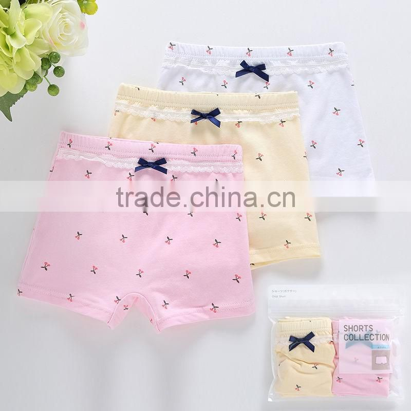 2-10 years girls underwears kid colorful underPants Children Baby underwear Cute girls Boxer Shorts