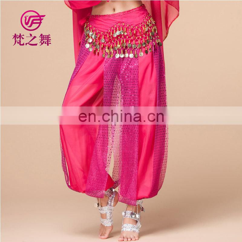Shiny chiffon indian belly dance harem pants K-4001#