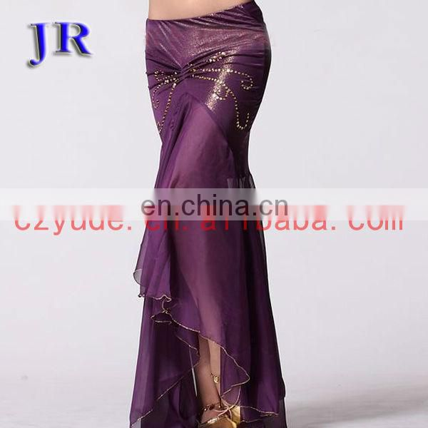 Sexy Cheap price chiffon belly dance mermaid skirt