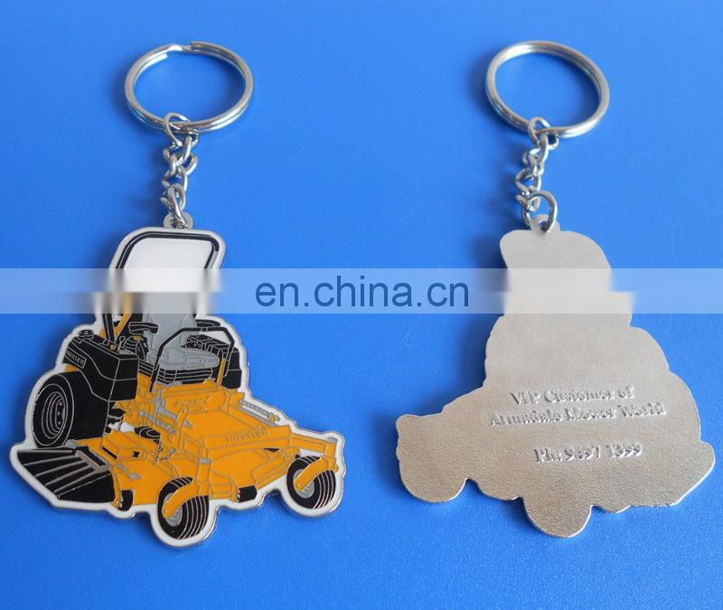 promotional company logo design customized company souvenir gift soft enamel metal keychain