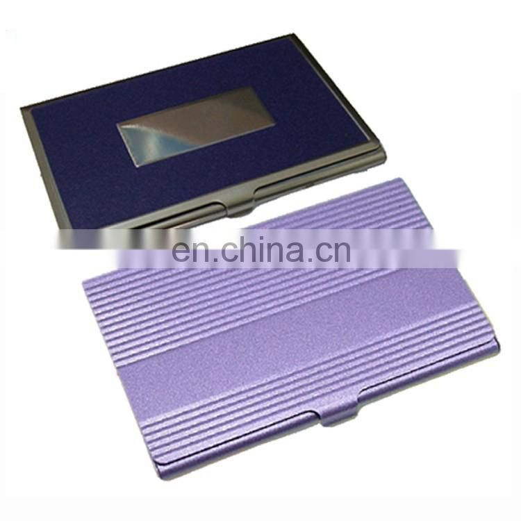 Chinses supplier customized aluminum metal credit card wallet holders