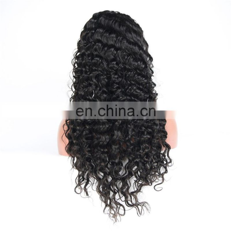 New arrival full lace wig in deep wave brazilian human virgin hair 9A grade cuticle aligned hair
