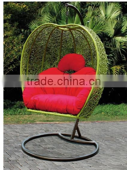Popular Bird Nest Shaped Cozy Outdoor Garden Ratan Hanging Furniture Wicker  Patio Swing Chair Image