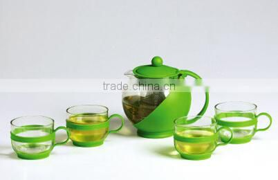 Top level glass teapot with stainless steel warmer can boil water